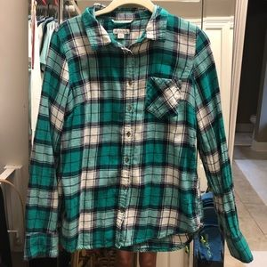 Merona Blue/green flannel